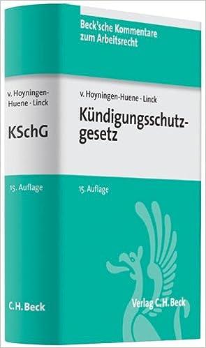 Kündigungsschutzgesetz Amazonde Gerrick Freiherr Von Hoyningen