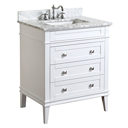 Kitchen bath collection kbc l30wtcarr eleanor bathroom - Cheap bathroom vanities under 100 ...