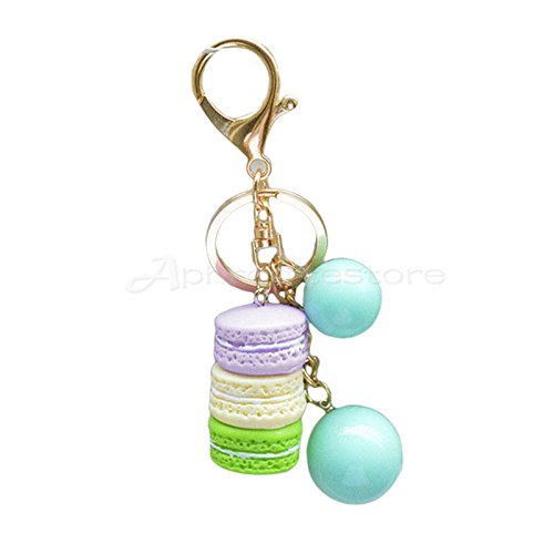 OLIVE US-Cute Women Fashion Style Macaron Keys Chain Bags Charm Accessory Small New x 1