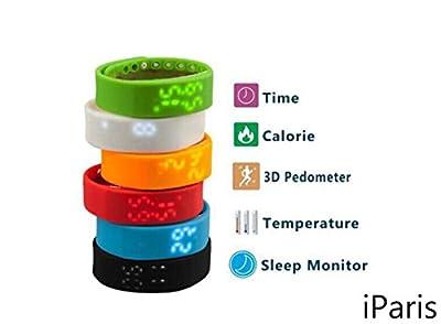 iParis Unisex Kids Sky Blue Smart Watch Bracelet Fitness Tracker