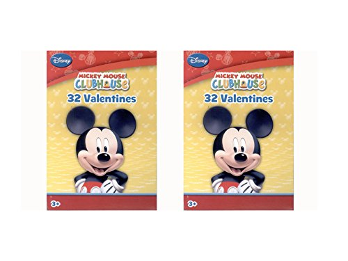 Disney Mickey Mouse Clubhouse 32 Valentine Cards (2 Pack)