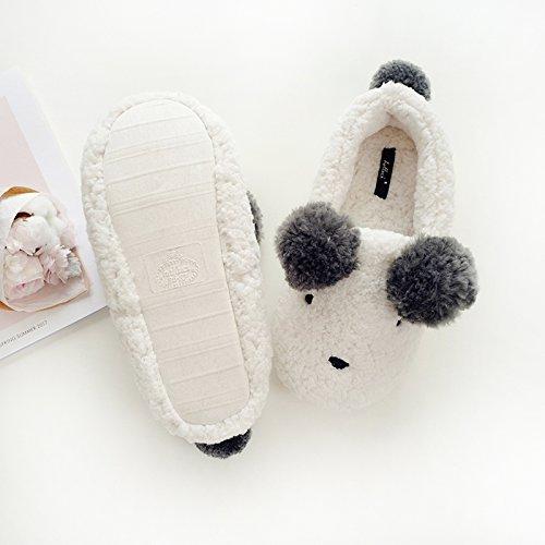 Halluci Womens Cozy Fleece Memory Foam House Dolcetto O Scherzetto Halloween Pantofole Carino Orso