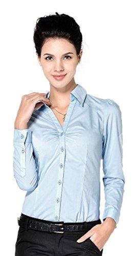 Soojun Bodysuit Blouse Buttoned Collar