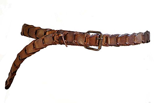 [Medieval-LARP-Reenactment-Viking-Battle Read-Cosplay-Pirate-Sca LEATHER BRAWL BELT] (Costumes Brawl)