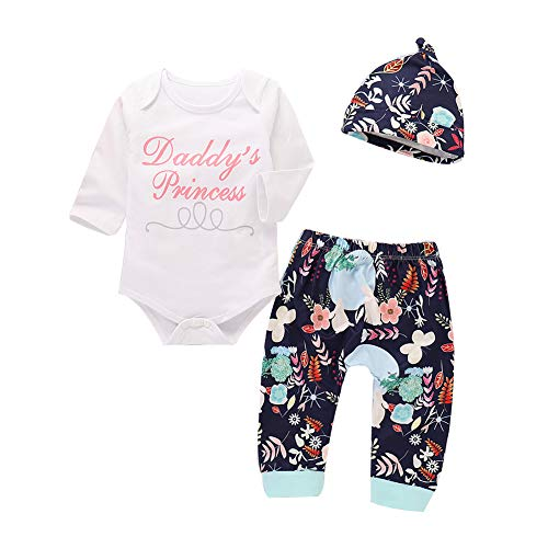 Newborn Infant Baby Girls Daddy's Princess Romper