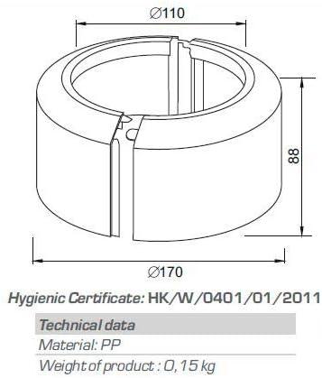 2 unidades Escudo de tuber/ía de agua para radiador Sourcingmap color blanco