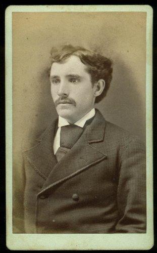 Martin Noonan mustache big tie CDV by Rodgers Hartford CT (Hartford Tie)