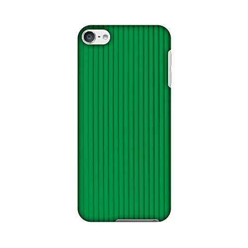 AMZER Slim Designer Snap On Hard Shell Case Back Cover with Screen Care Kit for iPod Touch 6th Gen - Carbon Fibre Redux Pear Green 16