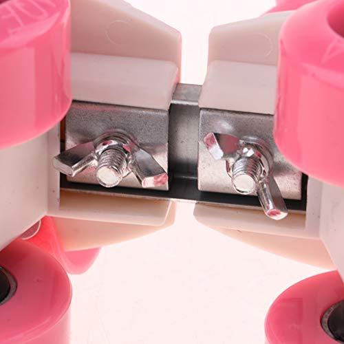 Enfants Paire Fenteer Rangée Rose Pour Patins Roulettes Roues Ajustable Taille 1 À De P55rnwEZHq