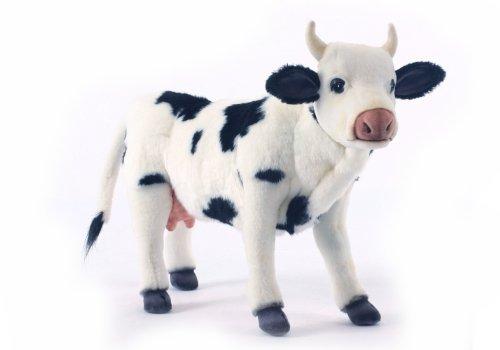 White Plush Cow - Hansa Cow Plush, Black/White