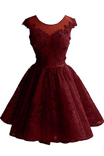 Neu Promkleider Abendkleider Tanzenkleider Mini Damen La Festlichkleider Spitze Braut Marie Burgundy Cocktailkleider vHxS8qpRw
