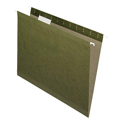 Oxford 91525X Fólder Colgante Tamaño Carta Ceja 1/5 100% Reciclado, Caja de 25, Color Verde Tradicional