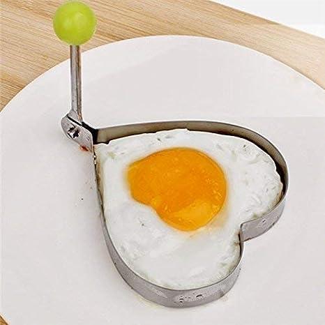 4 Moldes, Formas para Huevos Fritos Spiegeleiformer Pancakes Crepes Sartén Asado Cortadoras de Huevos 4x Corazón: Amazon.es: Electrónica