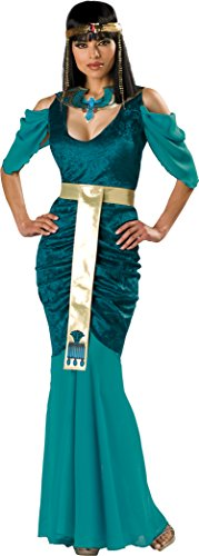 InCharacter Costumes Women's Egyptian Jewel Adult Costume, Turquoise/Gold, Large (Egyptian Women Costume)