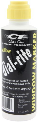 Dial Yellow Markers (Clear One DRM2 Dial-Rite Yellow Window Marker - 3 oz.)