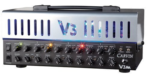 Carvin Audio V3M 50W 3 Channel All-Tube Micro Guitar Amplifier Head w/ LED Backlighting