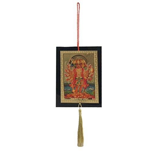Divya Mantra Sri Pancha Mukhi Hanuman Talisman Gift Pendant Amulet for Car Rear View Mirror Decor Ornament Accessories/Good Luck Charm Protection Interior Wall Hanging Showpiece ()
