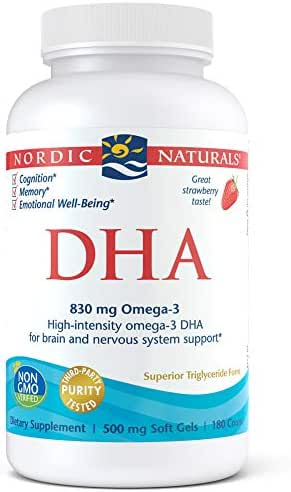 Nordic Naturals - DHA, Brain and Nervous System Support, 180 Soft Gels (FFP)