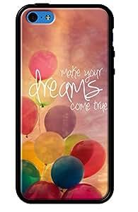 Funda para Apple Iphone 5C, brillante negro, revestimiento de silicona Make Your Dreams Come True por Sylvia Cook fotografía