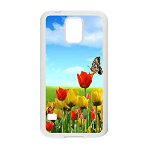 [QiongMai Phone Case] For Samsung Galaxy S5 -Beautiful Holland Tulip Flower-IKAI0446048