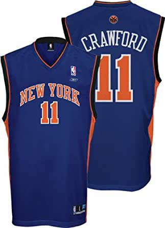 089305f66 Amazon.com  Jamal Crawford Blue Reebok NBA Replica New York Knicks ...