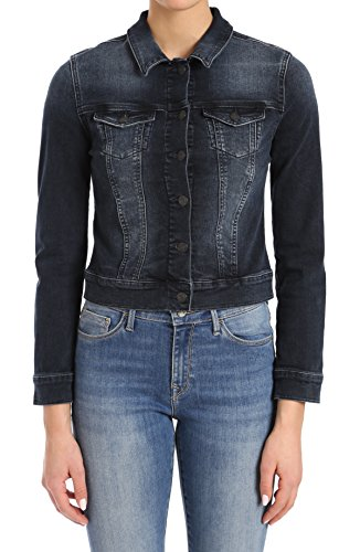 - Mavi Women's Samantha Cropped Denim Jacket, Deep Ink Vintage S