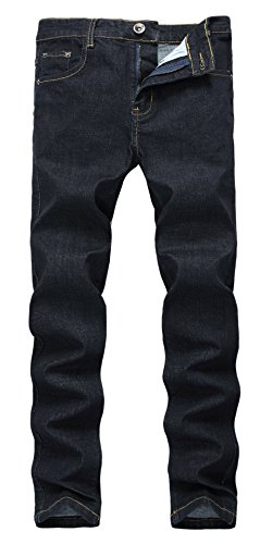 Adult Dressing Up Outfits (Men's Retro Straight Leg Elastic Fashion Dark Blue-Black Jean Trousers W38)