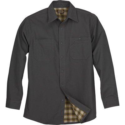 Gravel Gear Flannel-Lined Cotton Canvas Shirt Jacket - Mushroom, Medium