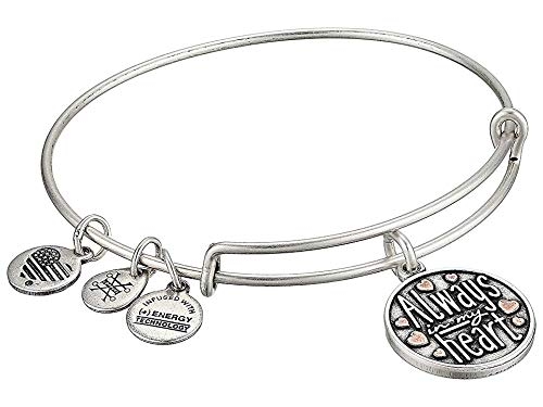 Alex and Ani Women's Always in My Heart Two-Tone Bangle Rafaelian Silver One Size by Alex and Ani