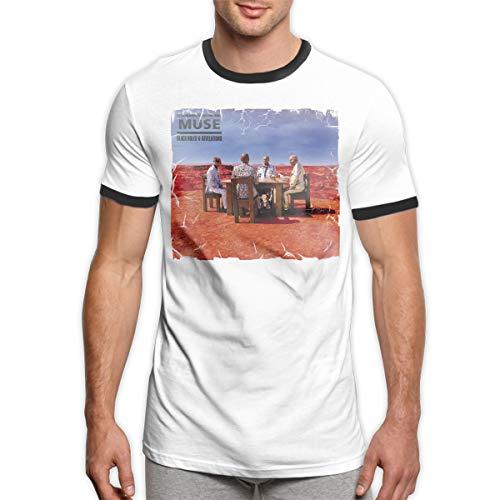 (Muse Black Holes and Revelations Fashion Mens Short-Sleeved Ringer T-Shirt XL)