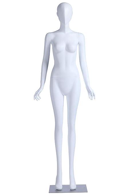 Schaufensterpuppe FC-4B abstrakt weiblich schwarz matt mit Kopf Frau elegant neu