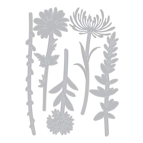Tim Holtz Sizzix Flower Stems Thinlit Bundle - Wildflower Stems #1 and Wildflower Stems #2 by Tim Holtz (Image #1)