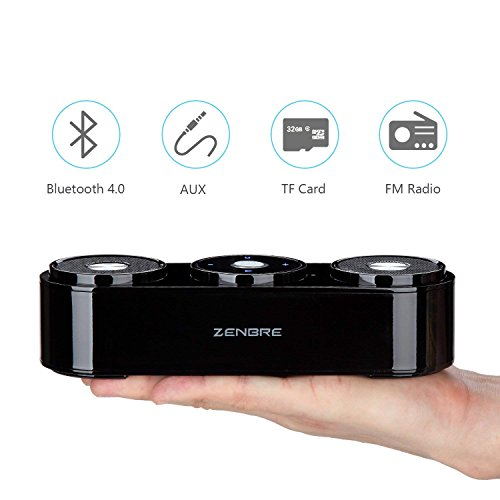 Bluetooth Speakers, ZENBRE Z3 10W Wireless Computer Speakers with 20h Playtime, Portable Speaker with Dual-Driver Enhanced Bass Resonator (Black) by ZENBRE (Image #7)