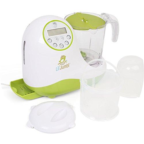 Versatile Baby Food Maker, Mill, Grinder, Blender, Steamer, Reheat, Bottle & Pacifier Warmer & Sterilizer. Digital Controls, LCD Display, Timer & Bowl Lock System. 2 Foods At Once. by Lil' Jumbl (Image #5)