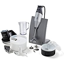 Bamix Superbox SwissLine Silver Coated 9 piece Set and Slicesy