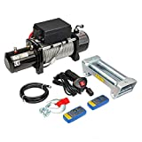 Roadstar Electric Winch 12V 13000 lbs Recovery Winch Fit for Trailer Truck SUV with Wireless Remote Control Kit
