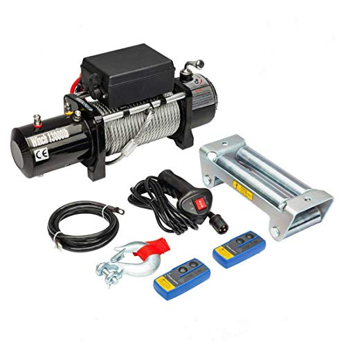 Electric Winch 12V 13000 lbs Recovery Winch Fit for Trailer Truck SUV with Wireless Remote Control Kit