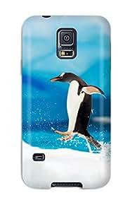 Emilia Moore's Shop Hot Slim Fit Tpu Protector Shock Absorbent Bumper Gentoo Penguins Antarctica Case For Galaxy S5 1019283K83107724