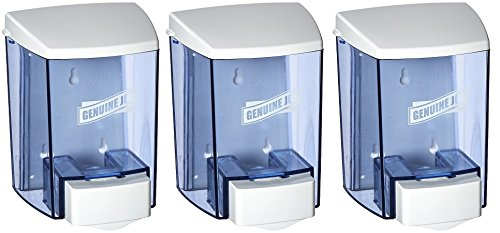 Genuine Joe GJO29425 Bulk Fill Soap Dispenser, Manual, 30 fl oz (887 mL), Smoke (3 PACK)