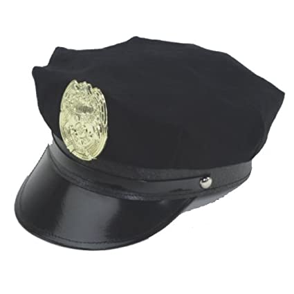 Amazon.com  Jacobson Hat Company Police Hat with Bright Gold Plastic Badge  - Black  Toys   Games 10c780769070
