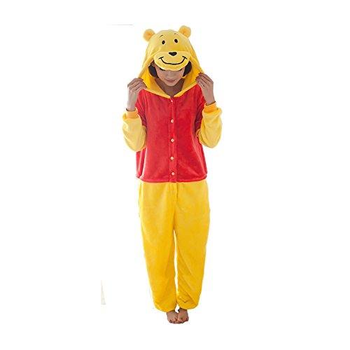 eforwest Unisex Adult Pajamas Kigurumi Cosplay Costume Animal Onesie Sleepwear]()