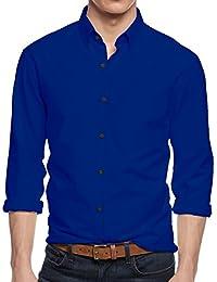 HB Men's Slim Fit Button Down Casual Long Sleeve Dress Shirt