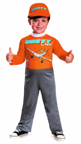 Disney Car Costume Toddlers (Disguise Boy's Disney's Planes Dusty Crophopper Costume, 2T)
