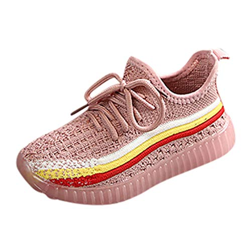 Amandaz Fashion Children's Shoes Sports Shoes Lights Baby Shoes Leisure Walking Shining Shoes Fluorescent Shoes Sneakers Pink