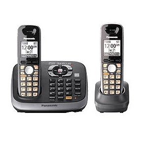 (Panasonic KX-TG6542B DECT 6.0 PLUS Expandable Digital Cordless Answering System with 2 Handsets)