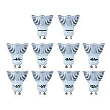 ChiChinLighting 10-Pack LED GU10 Bulbs 4W LED Reflector Bulb Spotlight LED Recessed Light Bulb 290lm gu10 led bulb Warm White 3000K 45 Degree Lighting Beam Angle gu10 led warm white