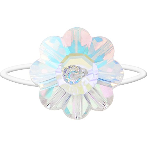 Body Candy Aurora Chic Flower Illusion Stretch Toe Ring Created with Swarovski Crystals