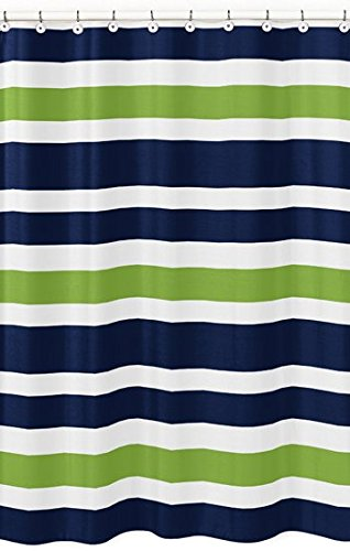 Fabulous Amazon.com: Sweet Jojo Designs Navy Blue, Lime Green and White  CI21