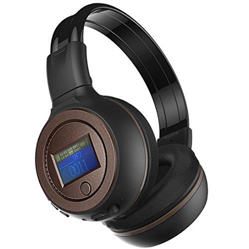 DZT1968 3.0 Stereo Bluetooth Wireless Headset/Headphones With Call Mic/Microphone (Coffee)