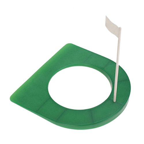WINOMO Golf Rubber Putting Cup with Hole and Flag (Green + (Personal Putting Green)